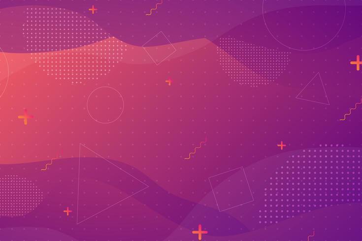 Purpere roze gradiënt vloeibare golvende vormenachtergrond vector