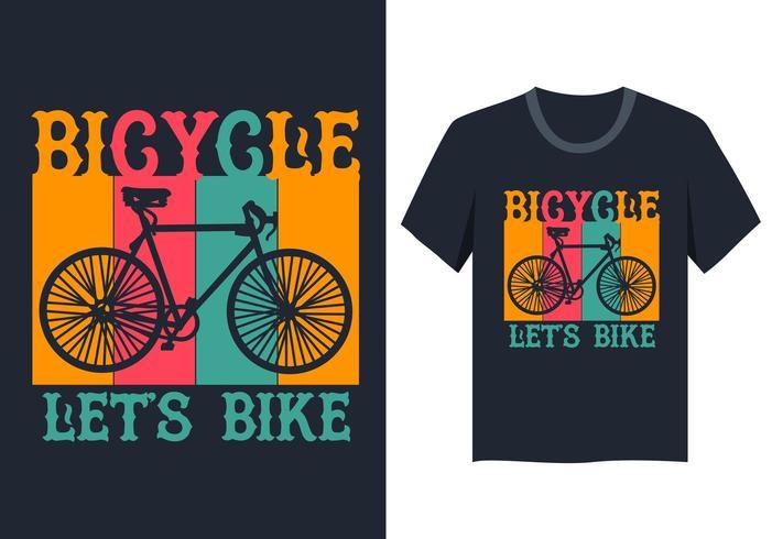 vintage fietsillustratie voor t-shirtontwerp vector