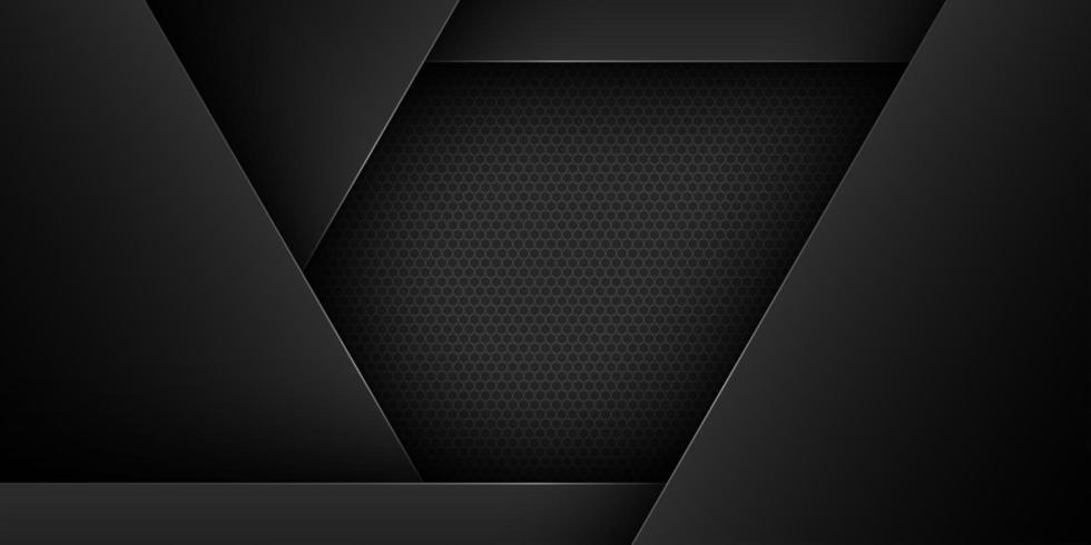 Zwarte geometrische overlappende zwart gesneden papiervormen vector