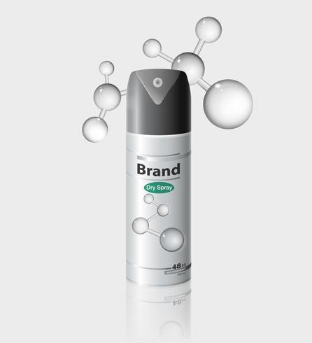 Bespotten van anti-transpirant of deodoriserende spray vector