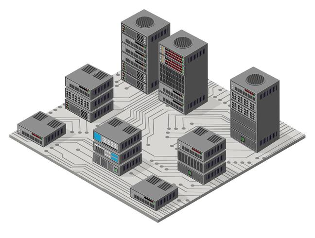 Isometrische 3D-set web vector