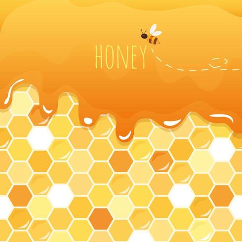 Zoete honing glanzende achtergrond met exemplaarruimte vector