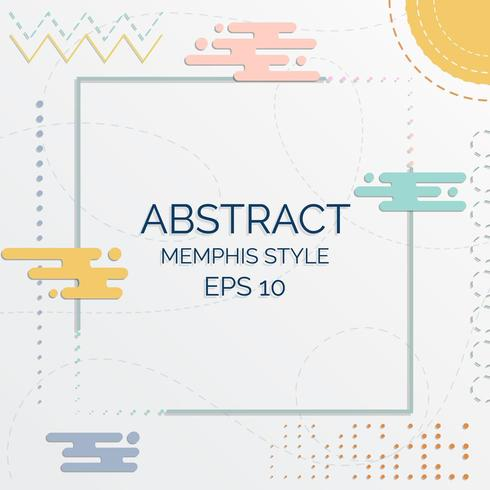 Abstracte pastel Memphis stijl achtergrond vector
