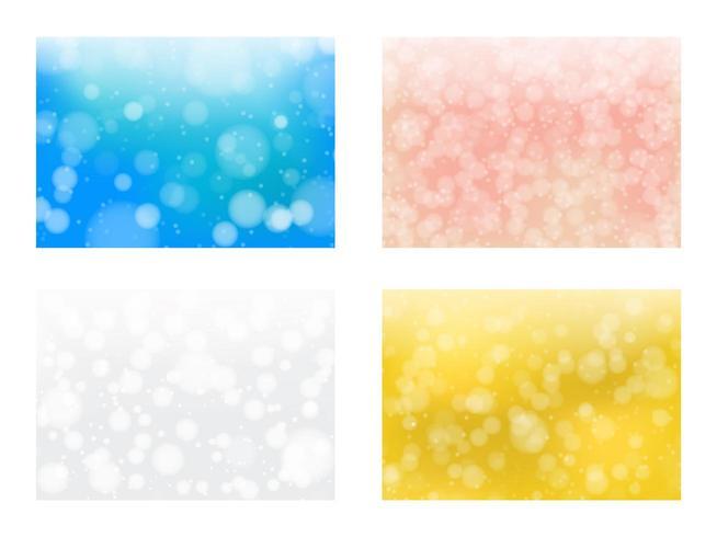 Reeks kleurrijke bokehachtergronden vector