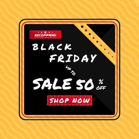 Zwarte vrijdag verkoop poster vector