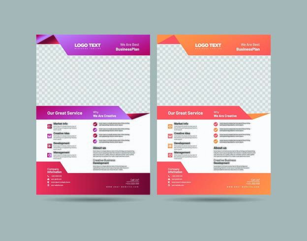 Zakelijk Flyer Design vector