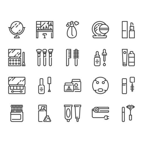 Cosmetica icon set vector