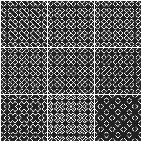 Zwart-wit kruis naadloze achtergrond vector