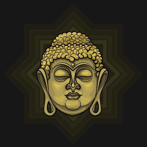 Gouden Boeddha die licht uitstraalt vector