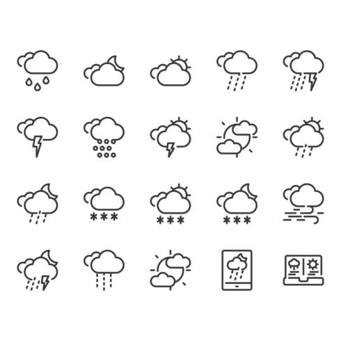 Weer icon set vector