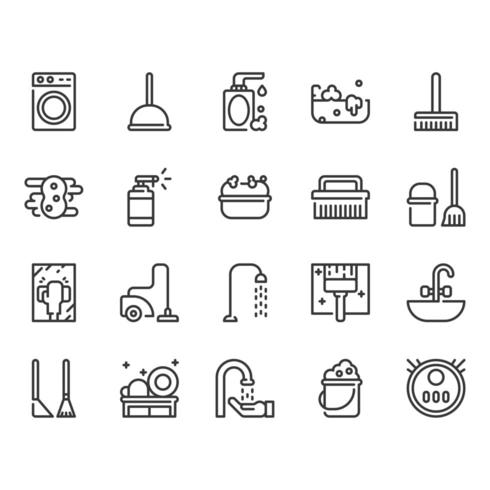 Reiniging icon set vector