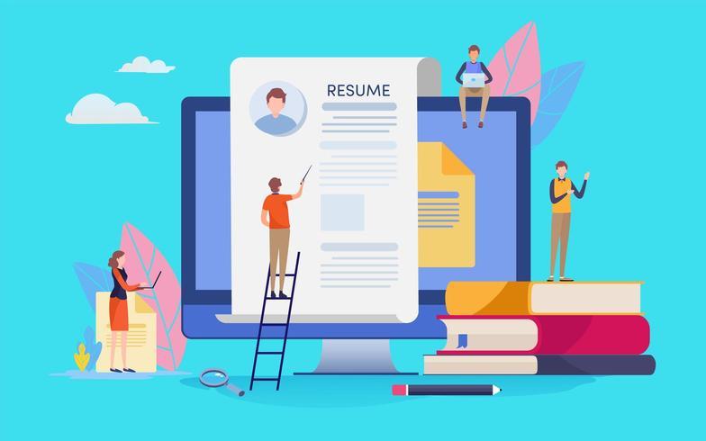 Online rekruteringsmensen vector
