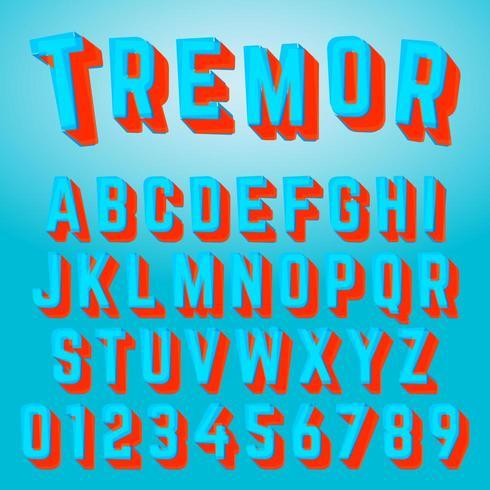 Alfabet lettertype tremor ontwerp vector