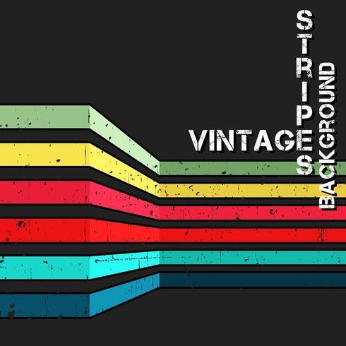 Vintage vectorachtergrond met grunge kleurrijke strepen vector
