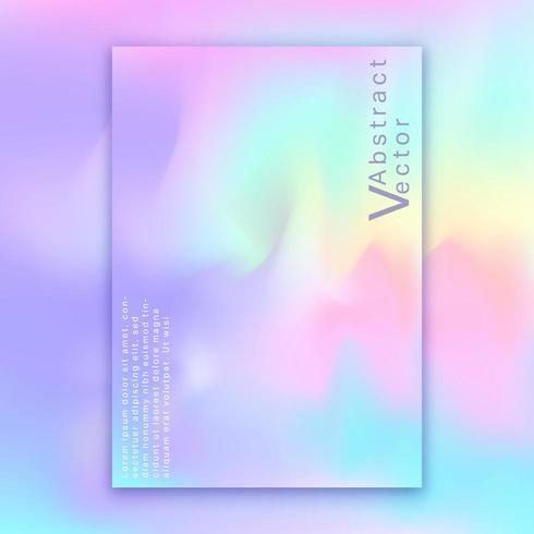 Hologram heldere kleurrijke achtergrond vector