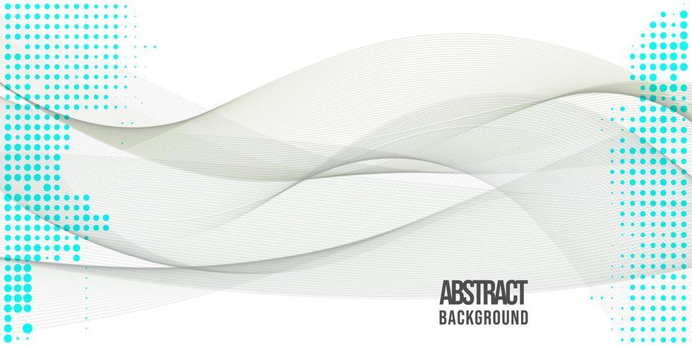 Abstract golvenontwerp als achtergrond vector