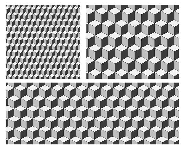 Naadloze patroonachtergrond met kubussen. Minimal behang vectorontwerp vector