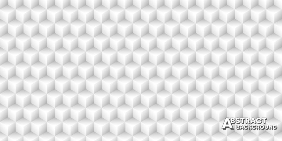 Naadloze patroonachtergrond met kubussen. Minimaal vintage vectorontwerp vector