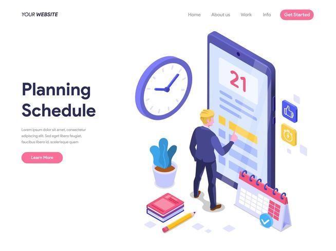 Planning plannen. vector