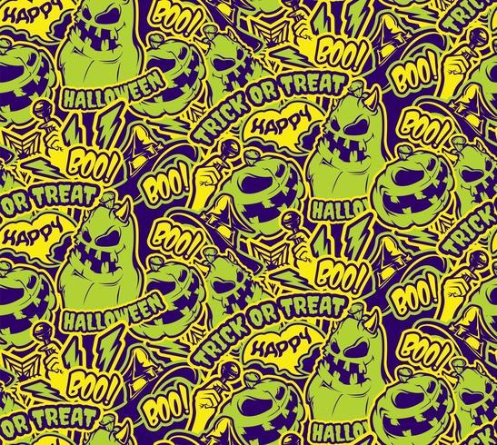 Halloween naadloze kleurenpatroon vector