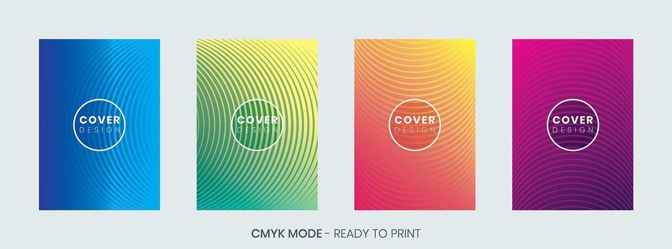 Minimale geometrische cover ontwerpsjabloon set vector