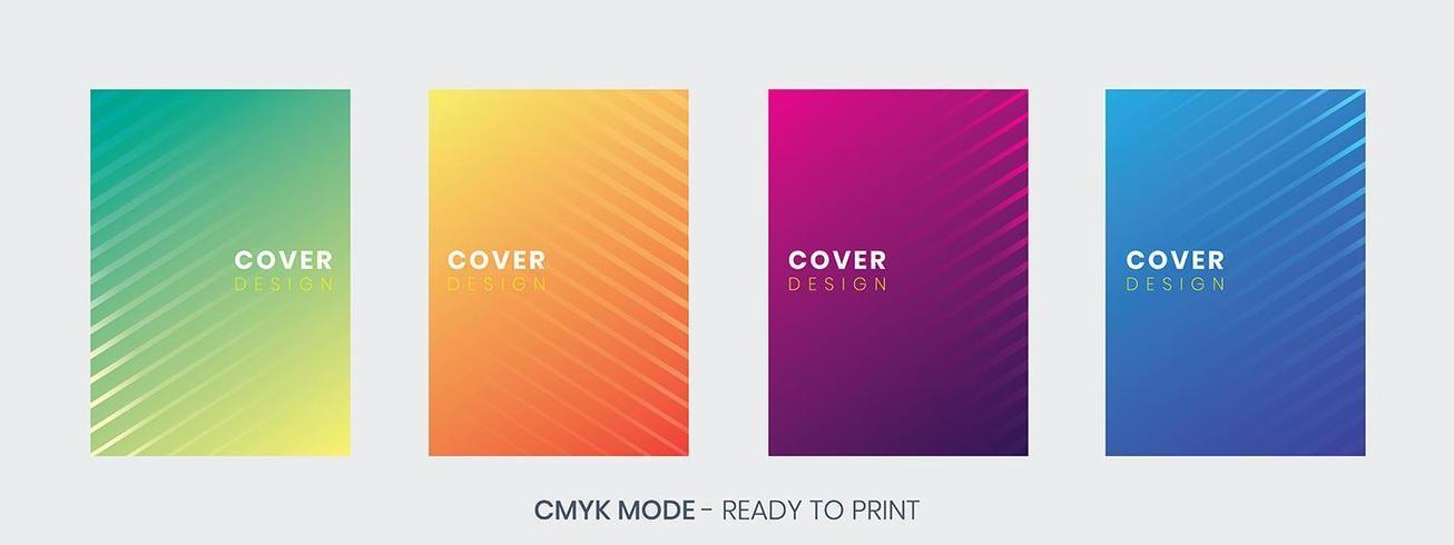 Minimale Cover ontwerpsjabloon set vector
