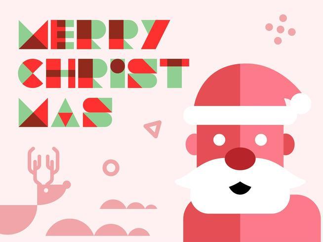 Kerstman groet vector