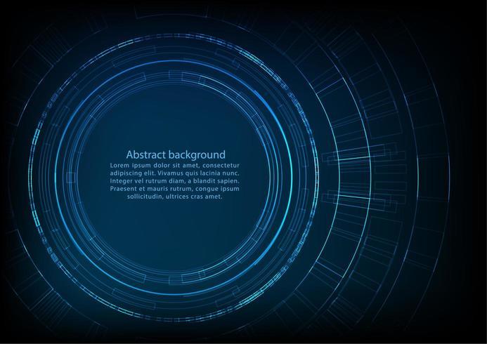 Circulaire technologie achtergrond met ruimte voor tekst vector
