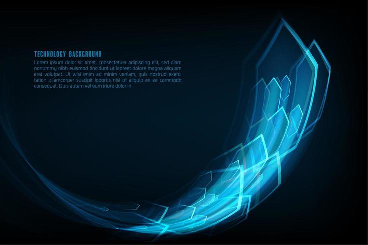 Snel pijl zeshoekig ontwerp vector