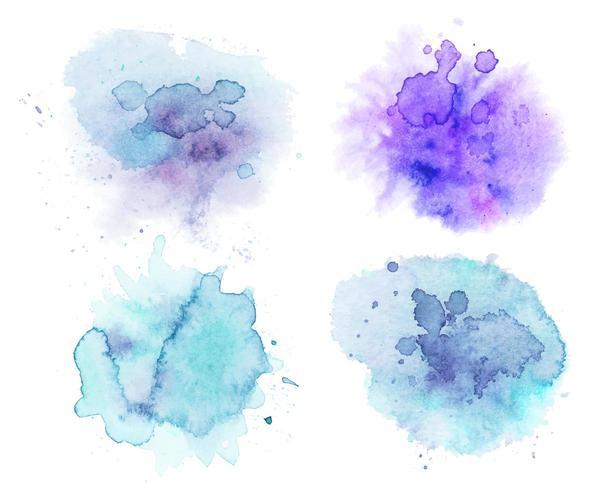 Waterverfvlekken, abstracte waterverfachtergrond vector