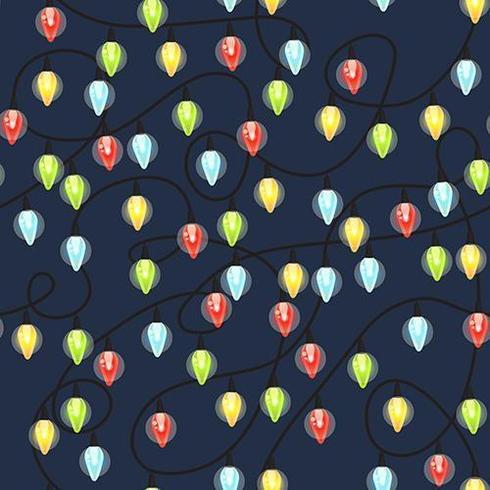 Kerst gloeilampen naadloze patroon vector