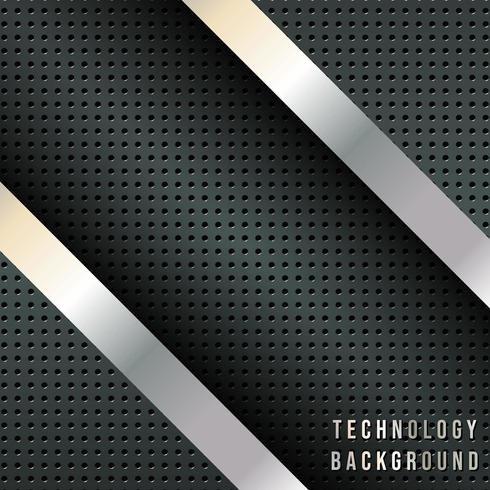 Metallic diagonale strepen, techno-ontwerpachtergrond vector