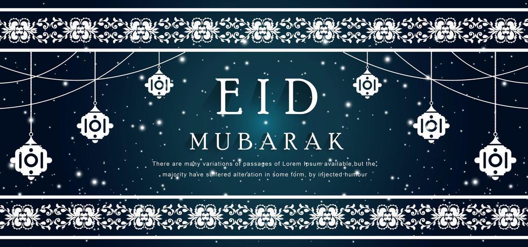 Eid islamitische achtergrond vector
