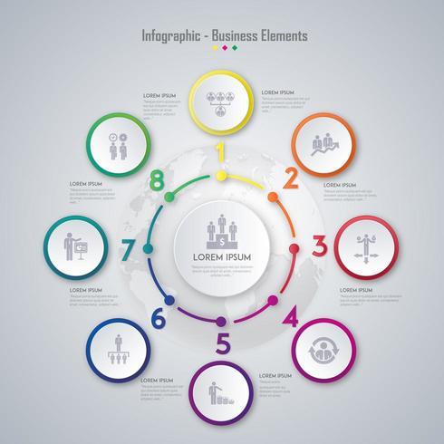 Zakelijk Infographic Element Design vector