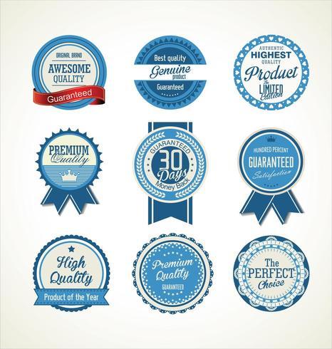 Retro vintage badges en labels-collectie vector