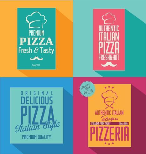 Pizza retro ontwerp als achtergrond vector