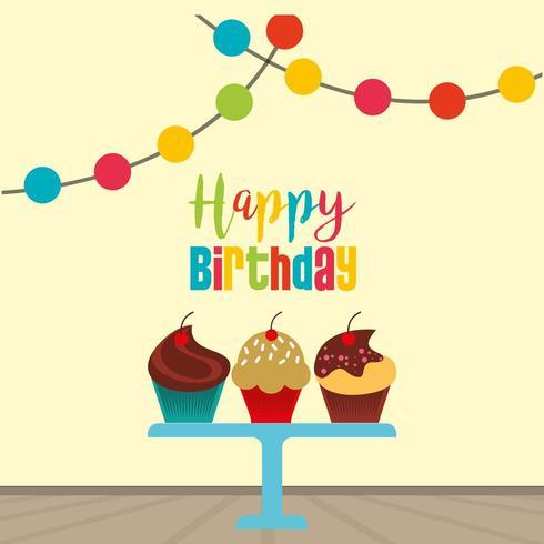 gelukkige verjaardagskaart vector