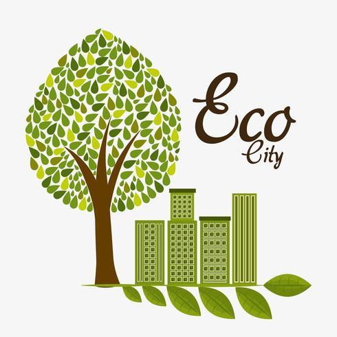 Groene energie en ecologie vector