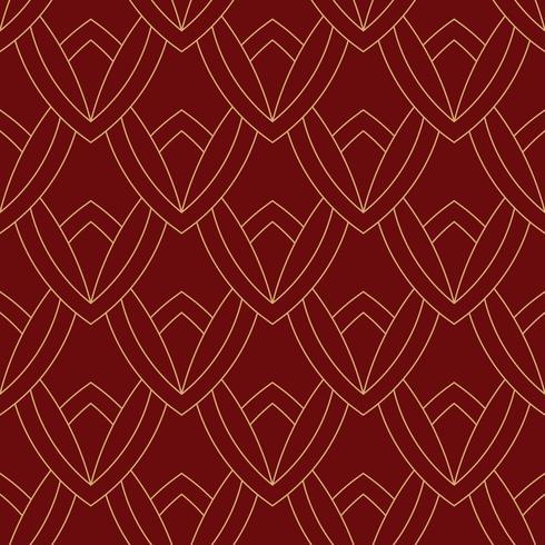 eenvoudig naadloos art deco geometrisch rood kastanjebruin patroon vector