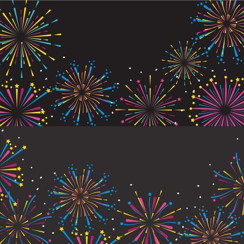 vuurwerk decoratie instellen om evenement te vieren vector
