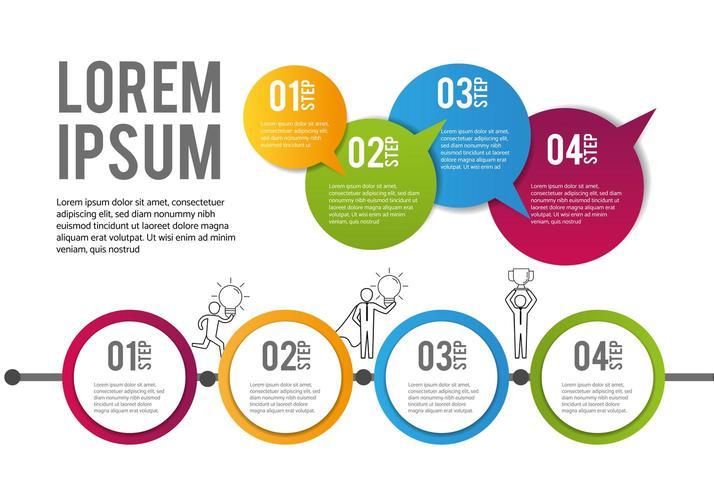 infographic plan strategie gegevens informatie vector