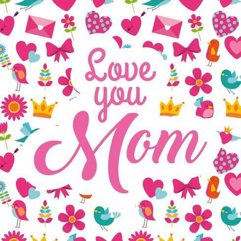 moederdag kaart vector