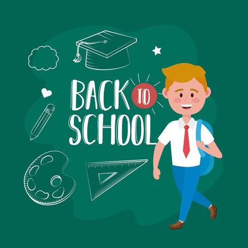 jongensstudent Back to School vector