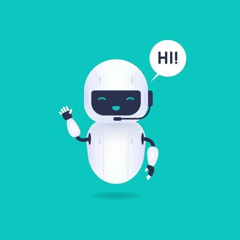 Witte vriendelijke Android-robot vector