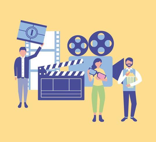 film mensen productie vector