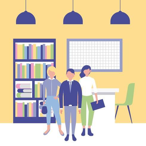 Mensen uit het bedrijfsleven in Office vector