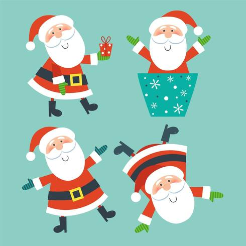 Verzameling van Kerstmis Santa Claus vector