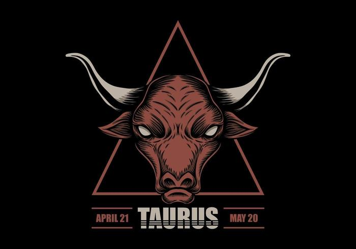 Taurus sterrenbeeld vector