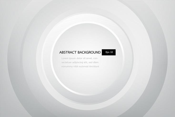witte en grijze elegante abstracte achtergrond, glans en vlotte cirkelmalplaatje. vector