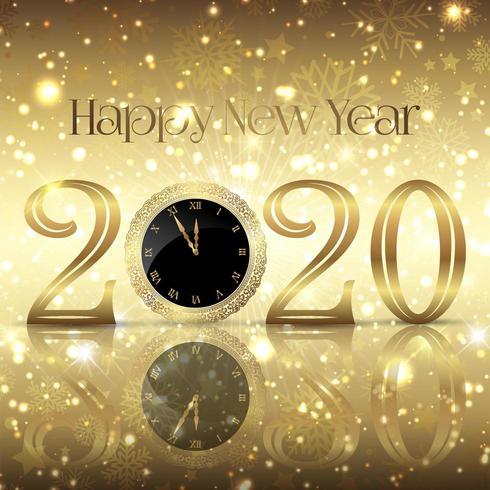 Decoratieve Gelukkig Nieuwjaargroet vector